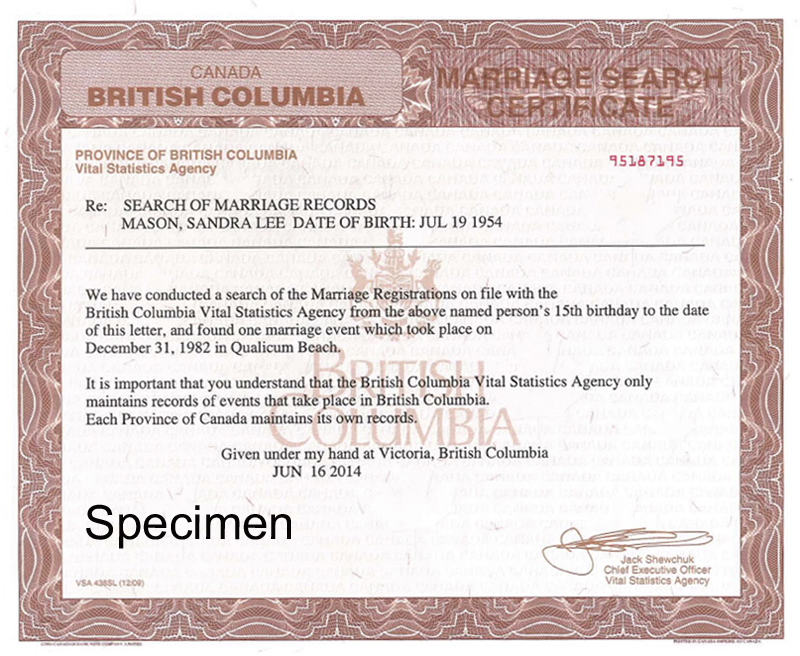 content life events marriages marriage certificates