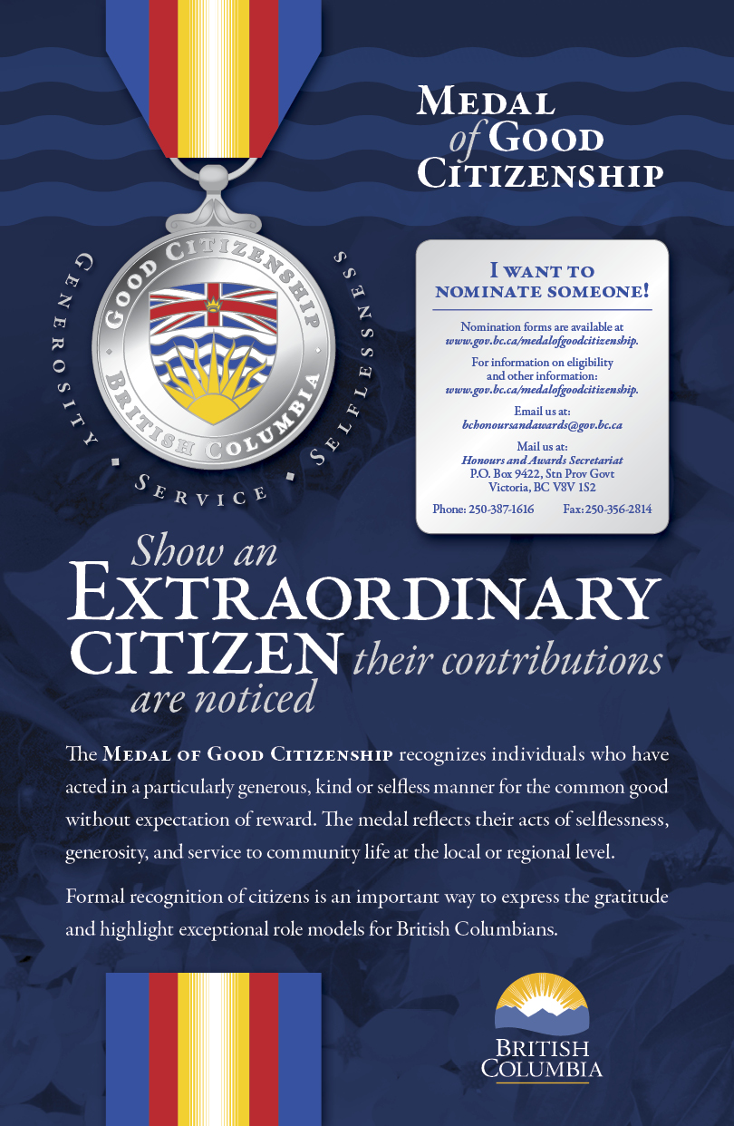 british columbia medal of good citizenship