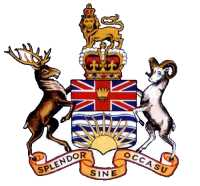 B.C. Coat of Arms after modifications in 1906