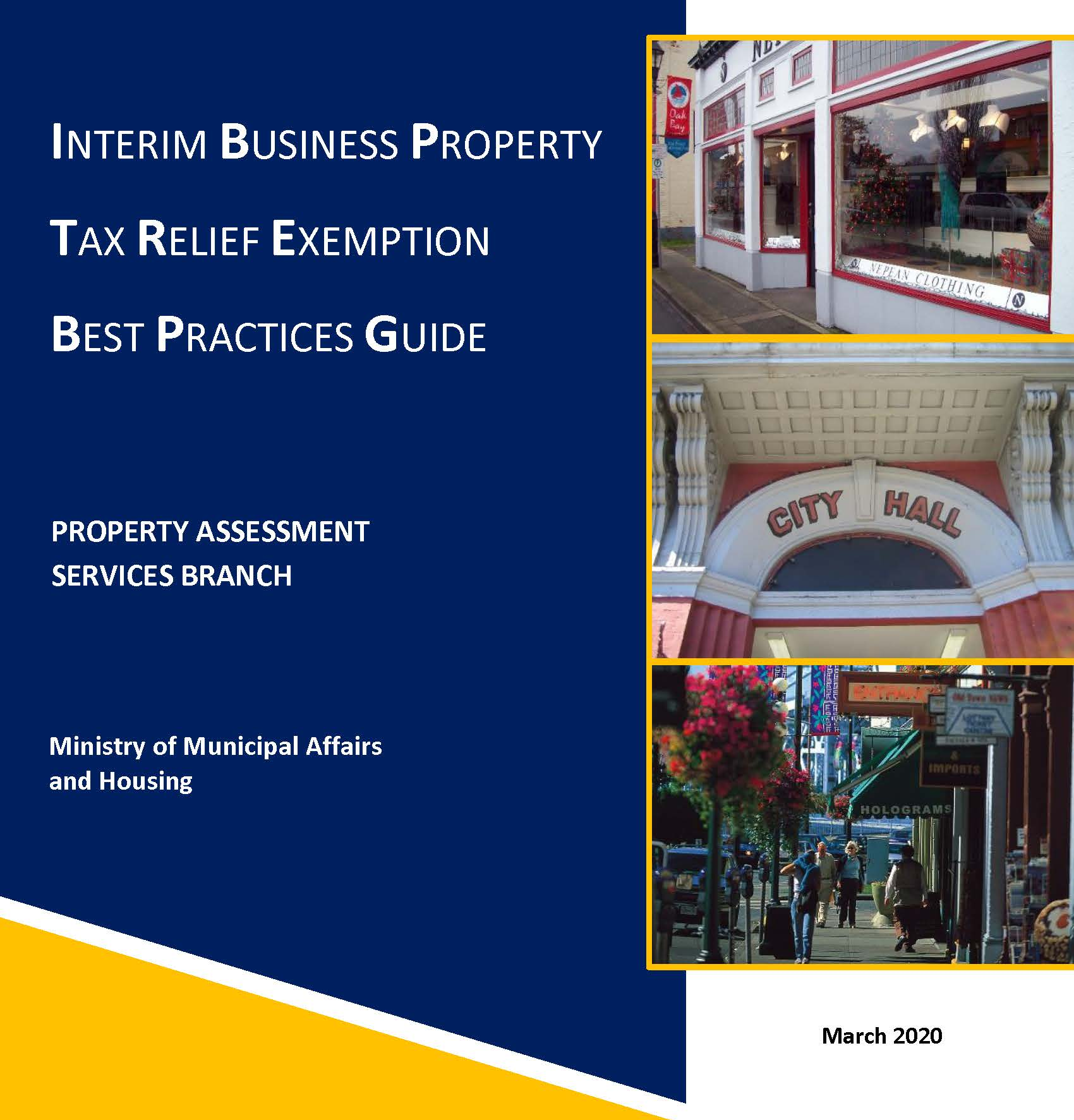 Download the Business Property Tax Relief Exemption Best Practices Guide (PDF, 1.3MB)