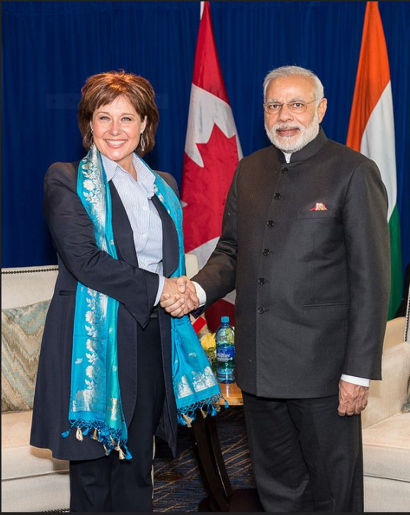 Premier Christy Clark welcomes His Excellency Narendra Modi, Prime Minister of India, to B.C. in 2015.