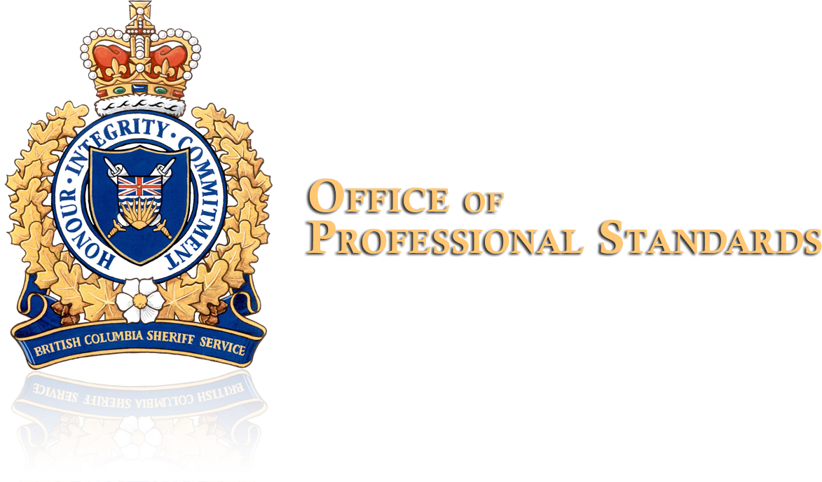 deputy sheriff career opportunities province of british columbia office of professional standards logo