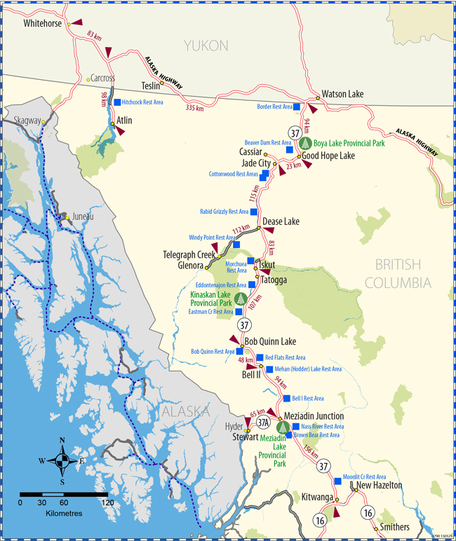 Highway Map Province Of British Columbia - British columbia map