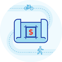 Active transportation funding icon