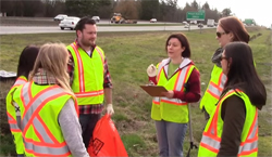 Watch the Adopt a Highway Volunteer Safe