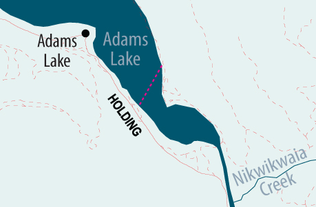 Go to Google Map of Adams Lake cable ferry