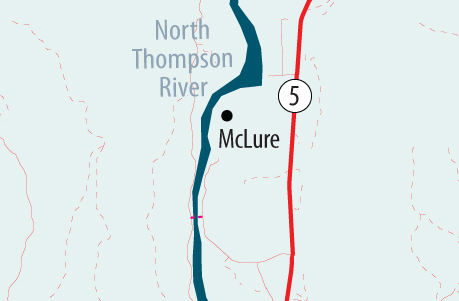 Go to Google Map of McLure reaction ferry