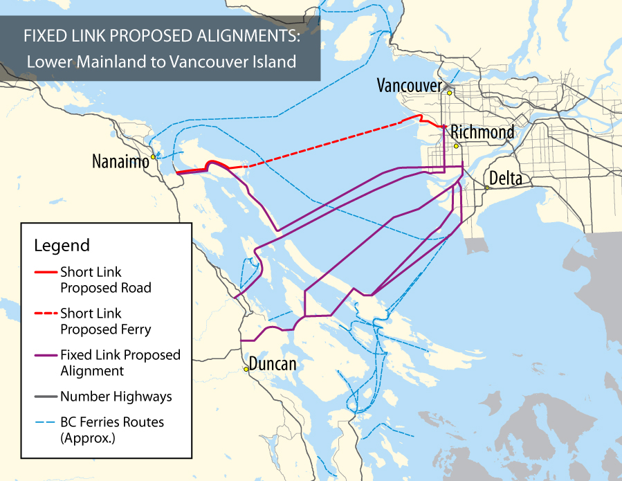 Potential Fixed Link to Vancouver Island Province of British Columbia
