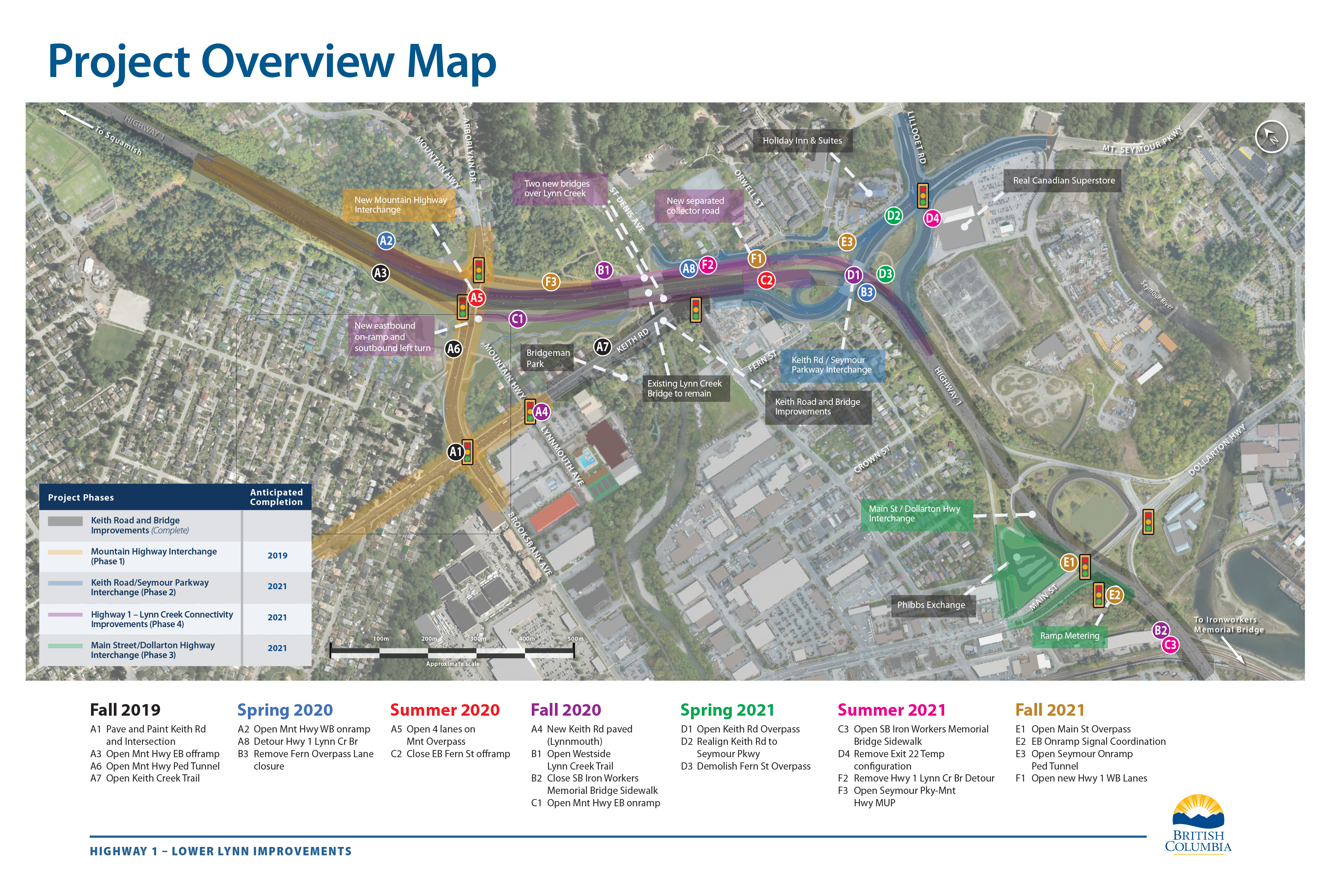 Full map showing the Lower Lynn Improvements