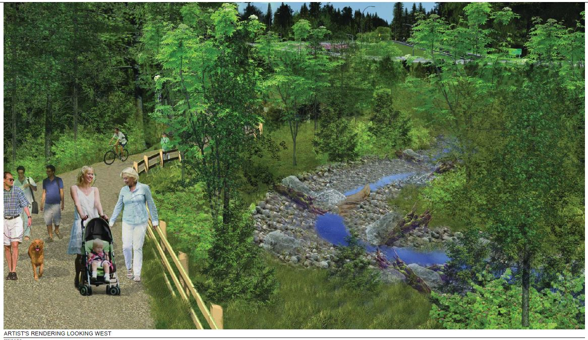 Keith Creek relocation artist rendering