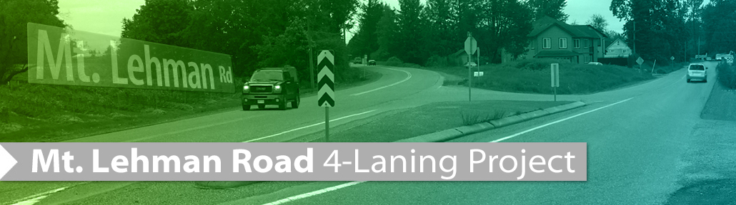 Mt Lehman 4-Laning Project Banner
