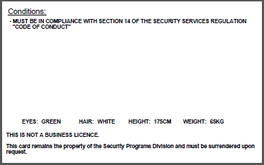 Security Industry Licensing Province Of British Columbia