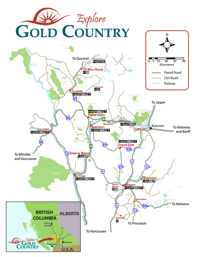 Map of Gold Country