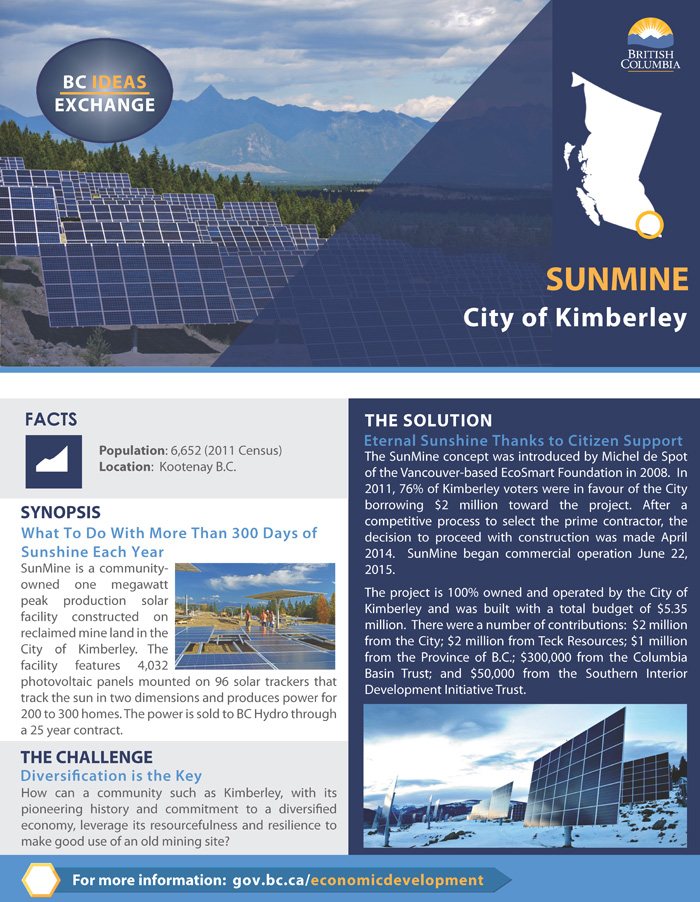 City of Kimberley Success Story