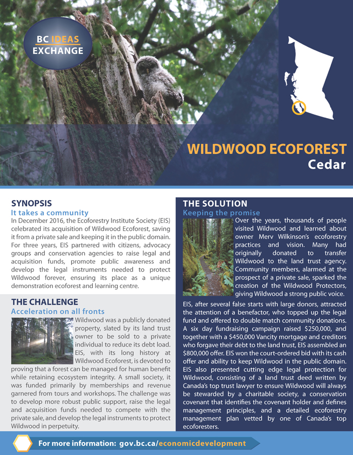 Wildwood Ecoforest Success Story