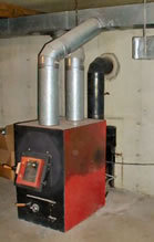 Image of a wood furnace