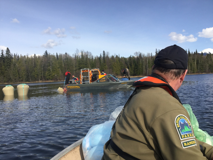 B.C. Ministry of Environment and BC Parks monitoring Ross Lake vehicle retrieval