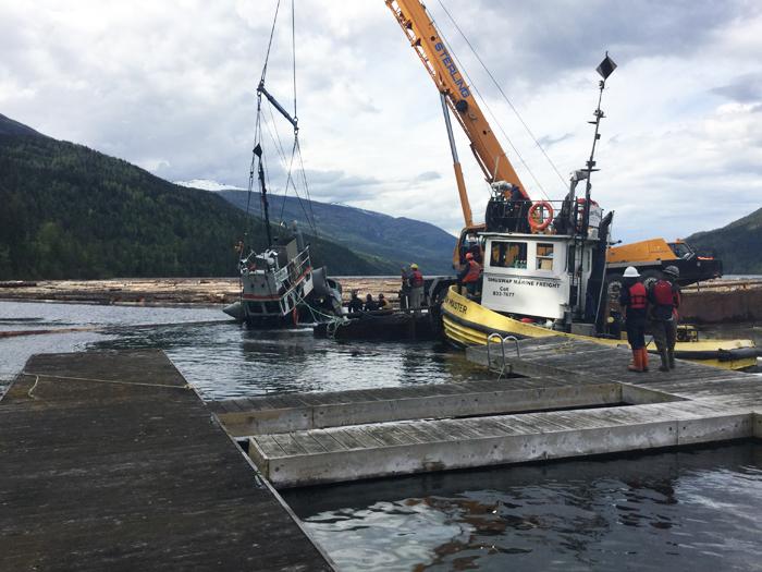 Sunken Tug In Shuswap Lake Province Of British Columbia