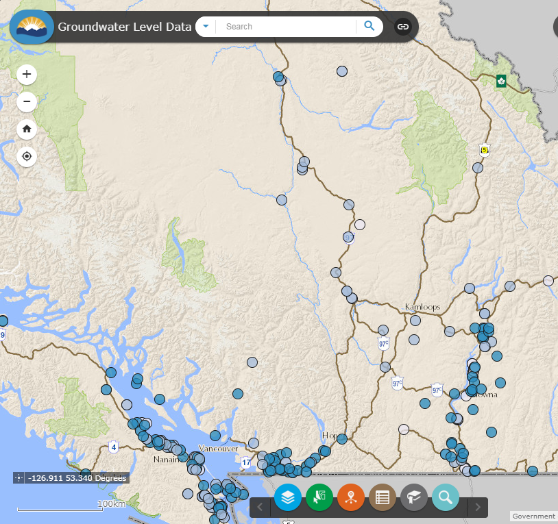 Image of the Groundwater Interactive Map