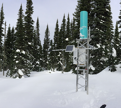 Automatic Snow Weather Station at Longworth in 2017