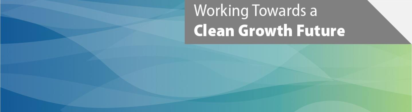 Banner image - working towards a clean growth future
