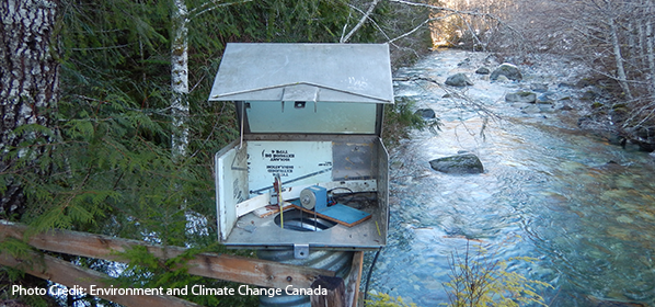 Hydrometric station. Photo Credit: Environment and Climate Change Canada