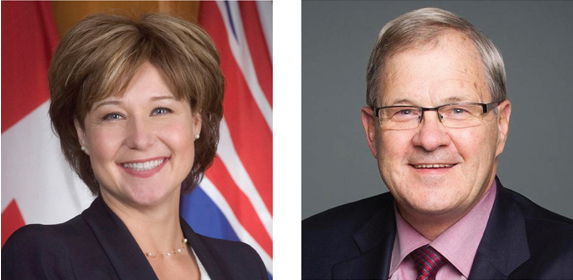 Image of the Premier of B.C. and Federal Minister of Agriculture and Agri-Food Canada
