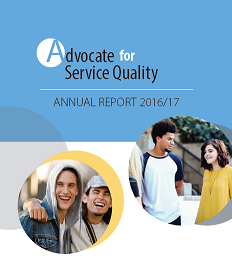 Cover page of the 2016-17 ASQ annual report