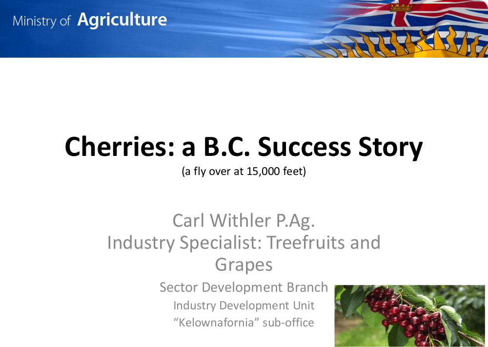 The Cherry Industry: A Made in B.C. Success Story