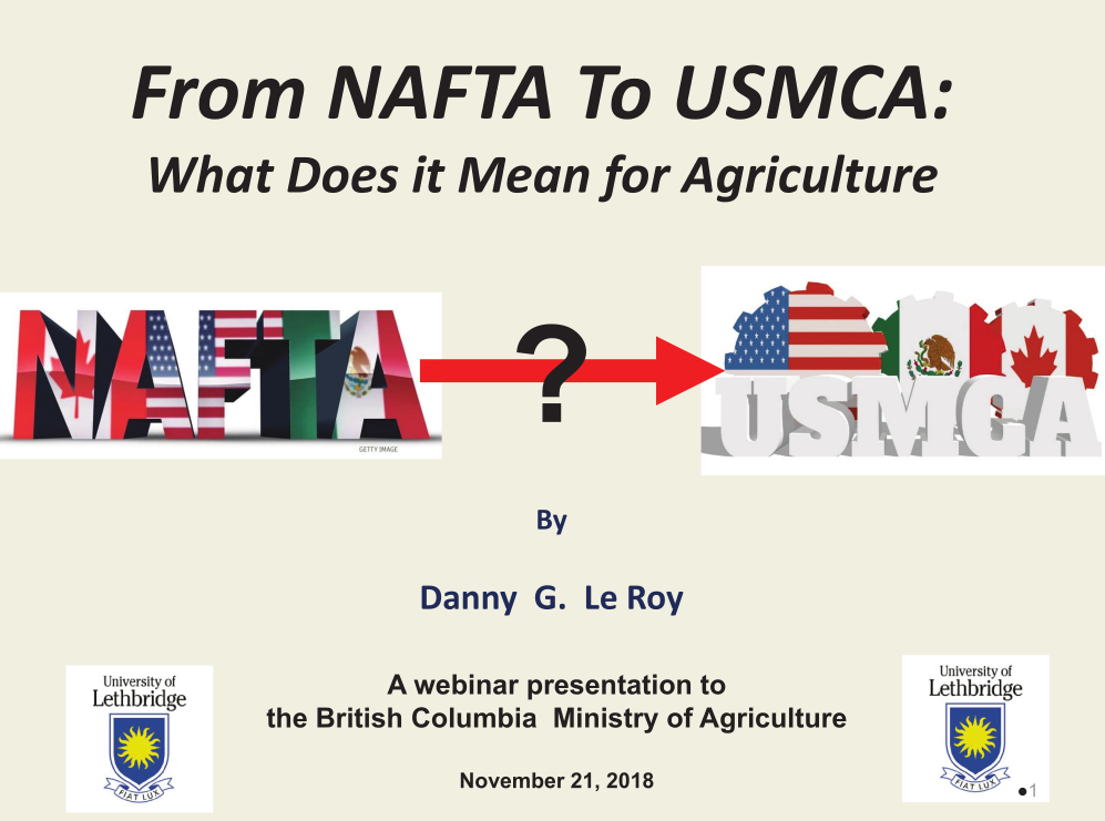 From NAFTA to USMCA presentation title slide