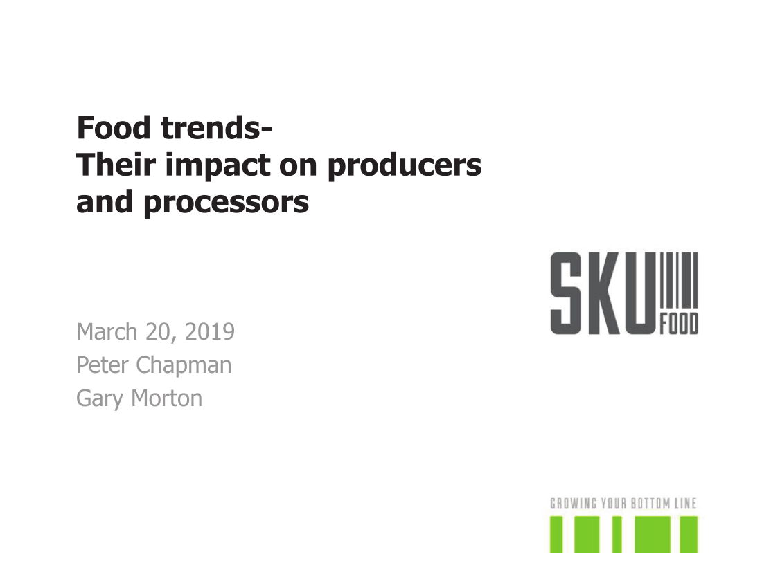 Retail Trends and Their Impact on Producers & Processors