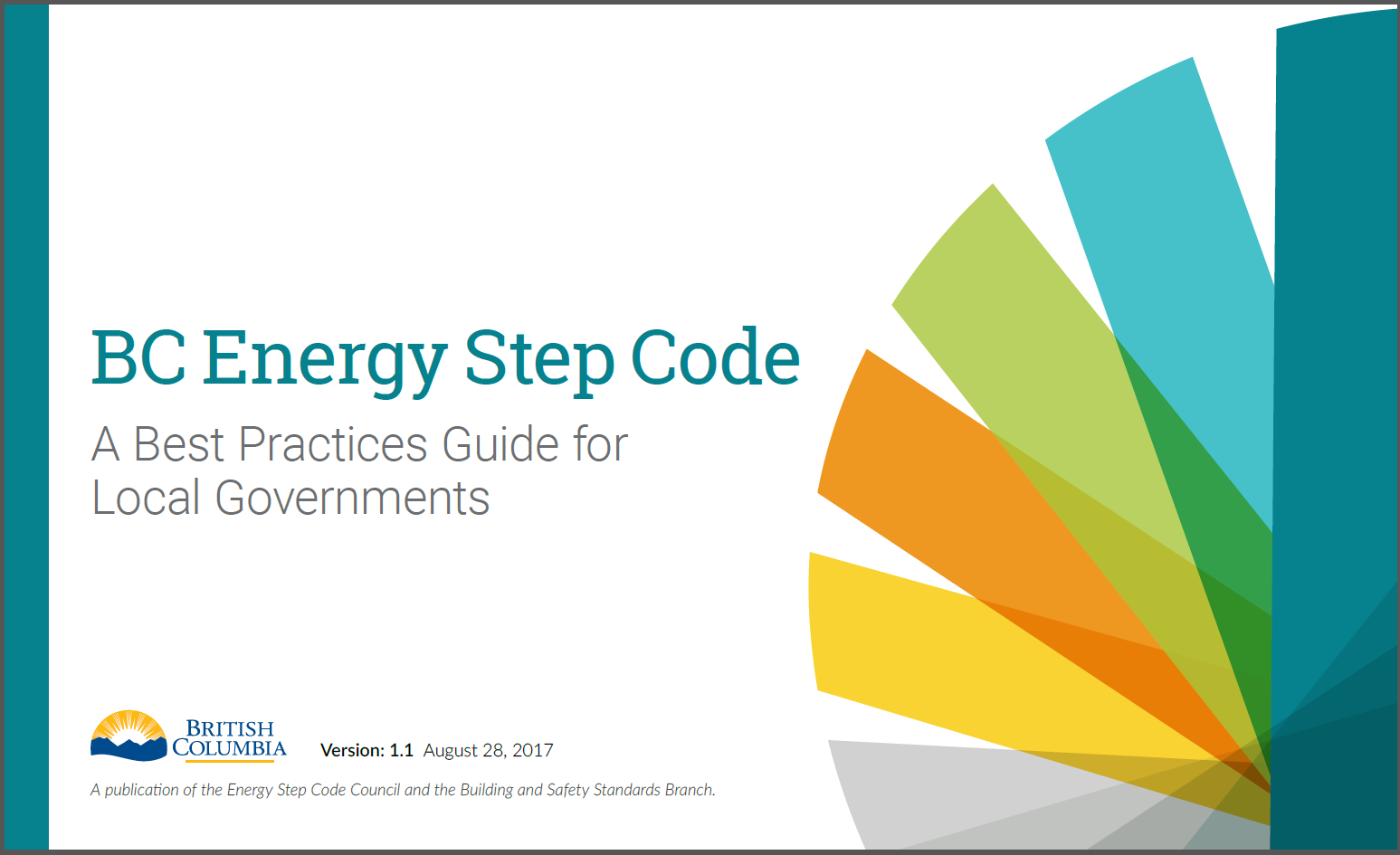 Cover of the BC Energy Step Code Best Practices Guide