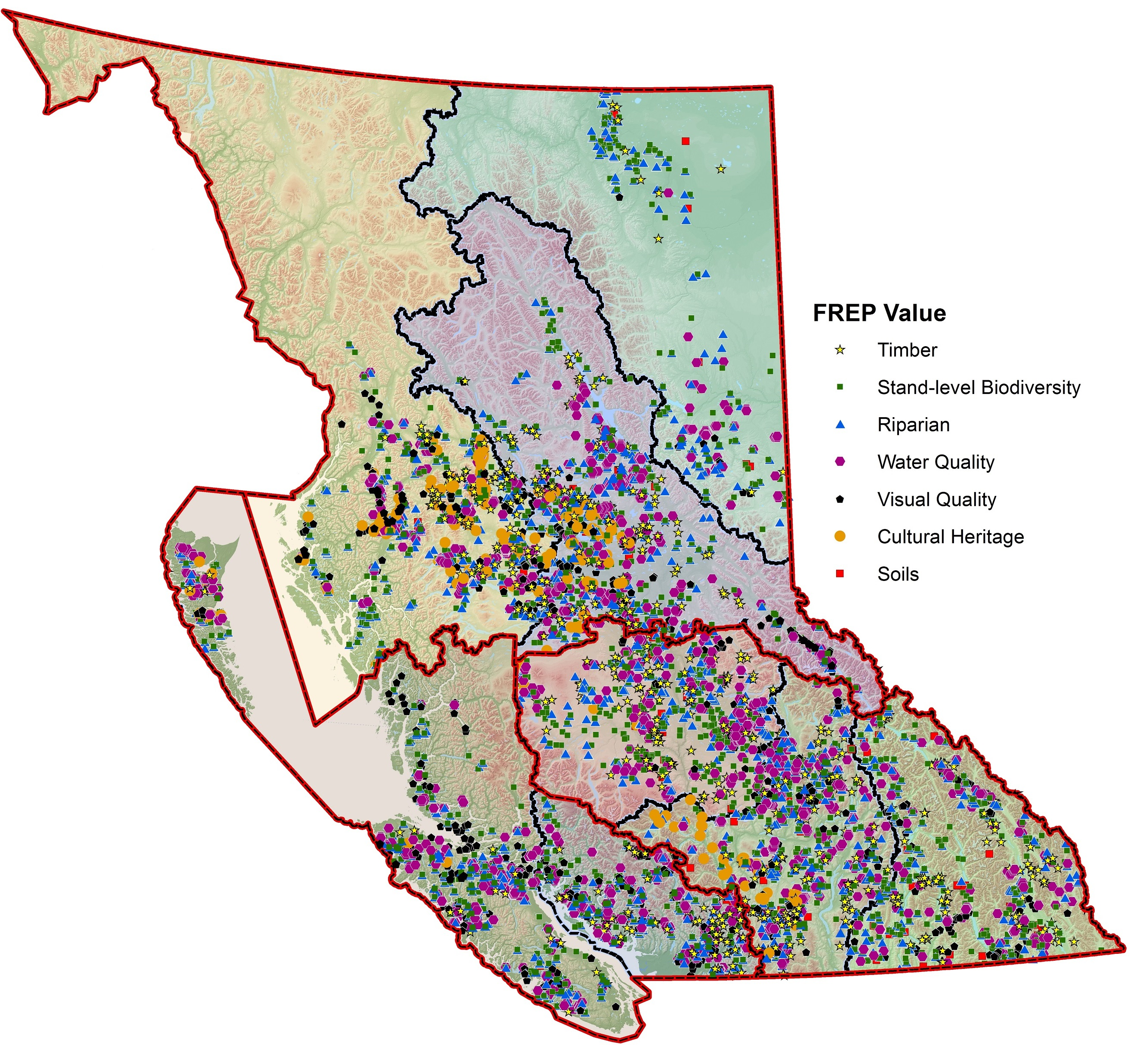 Sample site locations