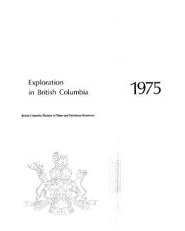 Exploration in British Columbia, 1975