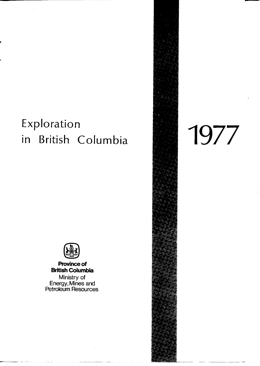 Exploration in British Columbia, 1977