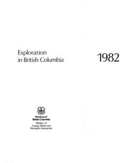 Exploration in British Columbia, 1982