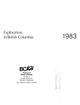Exploration in British Columbia, 1983