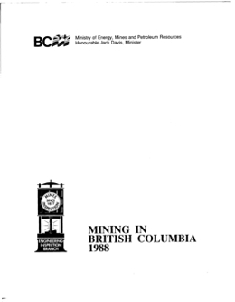 Mining in British Columbia 1988