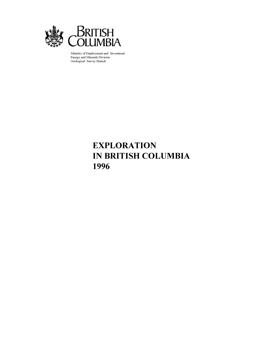 Exploration in British Columbia, 1996