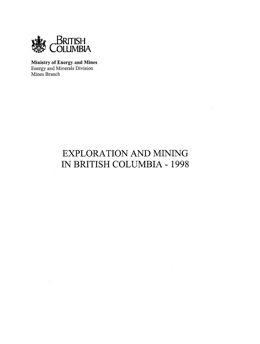 Exploration and Mining in British Columbia, 1998