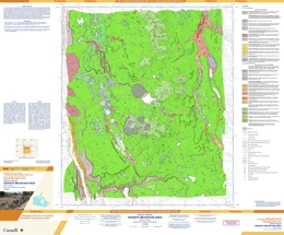 Surficial geology, Granite Mountain area, British Columbia by (parts of NTS 93B/8; 93B/9)