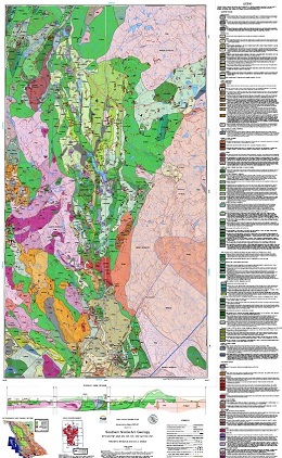 Cover image of BCGS Geoscience Map 2020-01