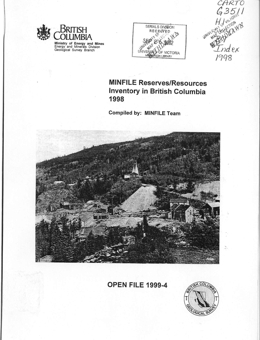 Open Files 1999-1990 - Province of British Columbia