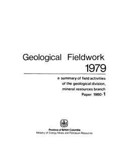 Geological Fieldwork 1979