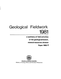 Geological Fieldwork 1981