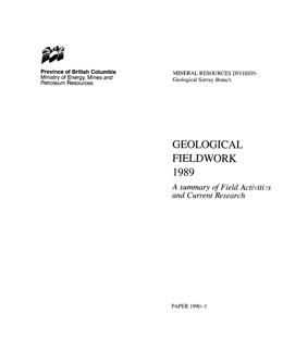 Geological Fieldwork 1989