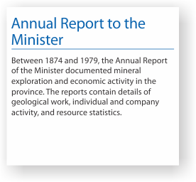 Annual report to the minister