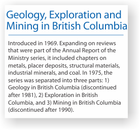 Geology, exploration and mining in British Columbia