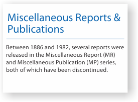 Miscellaneous reports and publications