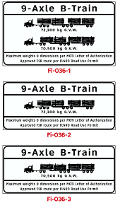 9 Axle Load Limit signs (3)